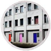 Colorful Doors- By Linda Woods Round Beach Towel