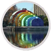 Colorful Downtown Orlando Round Beach Towel
