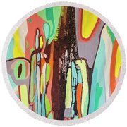 Colorful Earth Day Round Beach Towel