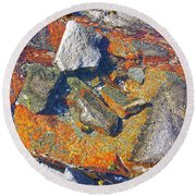 Colorful Earth History Round Beach Towel