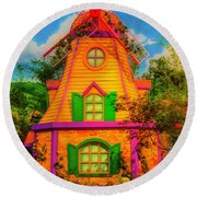 Colorful Fantasy Windmill Round Beach Towel