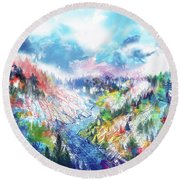 Colorful Forest 5 Round Beach Towel