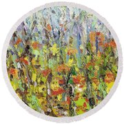 Colorful Forest Round Beach Towel