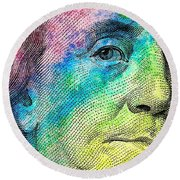 Colorful Franklin Round Beach Towel