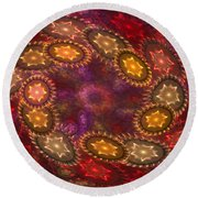 Colorful Galaxy Of Stars Round Beach Towel