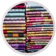 Colorful Garment Round Beach Towel