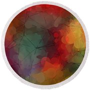 Colorful Geometric Pattern Abstract Art Round Beach Towel