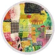 Colorful Geometric Round Beach Towel