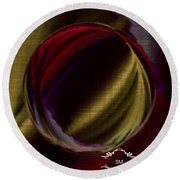 Colorful Glass Marble Art  Round Beach Towel