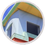 Colorful House In San Francisco Round Beach Towel