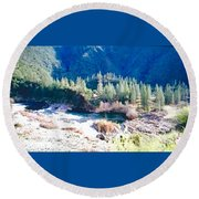Colorful Landscape Round Beach Towel