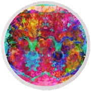 Colorful Life Round Beach Towel