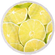 Colorful Limes Round Beach Towel