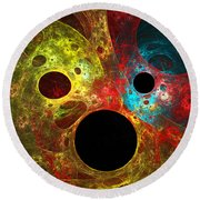 Colorful Masks Round Beach Towel