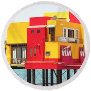 Colorful Mexico Round Beach Towel