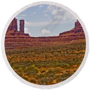 Colorful Monument Valley Round Beach Towel