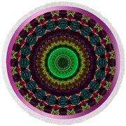 Colorful No. 4 Mandala Round Beach Towel