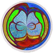 Colorful Orb Round Beach Towel