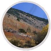 Colorful Orient Canyon - Rio Grande National Forest Round Beach Towel