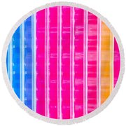 Colorful Plastic Round Beach Towel