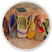 Colorful Purses Round Beach Towel