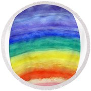 Colorful Rainbow Colored Egg Round Beach Towel