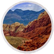 Colorful Red Rock Round Beach Towel