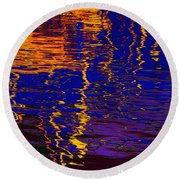 Colorful Ripple Effect Round Beach Towel
