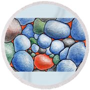 Colorful Rock Abstract Round Beach Towel