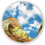 Colorful Rocks Round Beach Towel