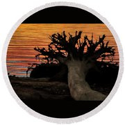 Colorful Roots Round Beach Towel