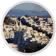 Colorful San Francisco Round Beach Towel