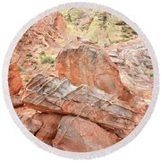 Colorful Sandstone In Wash 3 - Valley Of Fire Round Beach Towel