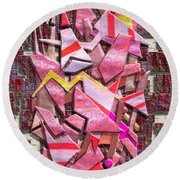 Colorful Scrap Metal Round Beach Towel
