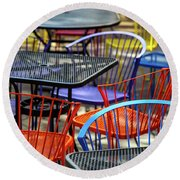 Colorful Seating Round Beach Towel