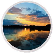 Colorful Serenity Round Beach Towel