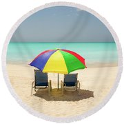 Colorful Shade Round Beach Towel