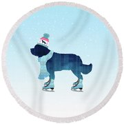 Colorful Skater Round Beach Towel