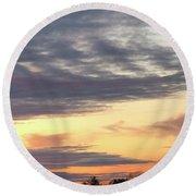 Sherbet Colored Sky Round Beach Towel
