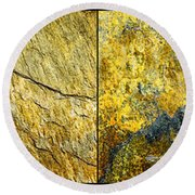 Colorful Slate Tile Abstract Composite H2 Round Beach Towel