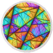 Colorful Slices Round Beach Towel