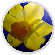 Colorful Spring Floral Round Beach Towel