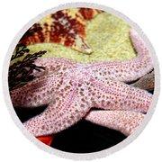 Colorful Starfish Round Beach Towel
