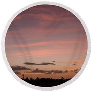 Colorful Sunset Over The Wetlands Round Beach Towel