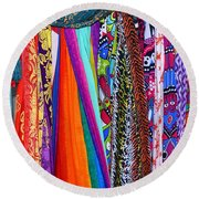 Colorful Tapestries Round Beach Towel