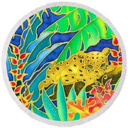 Colorful Tropics 4 Round Beach Towel
