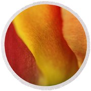 Colorful Tulip Closeup Abstract Round Beach Towel