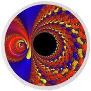 Colorful Vortex Round Beach Towel