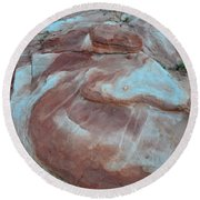 Colorful Wash 2 Of Valley Of Fire Round Beach Towel