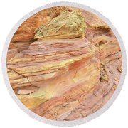 Colorful Wash 3 In Valley Of Fire Round Beach Towel